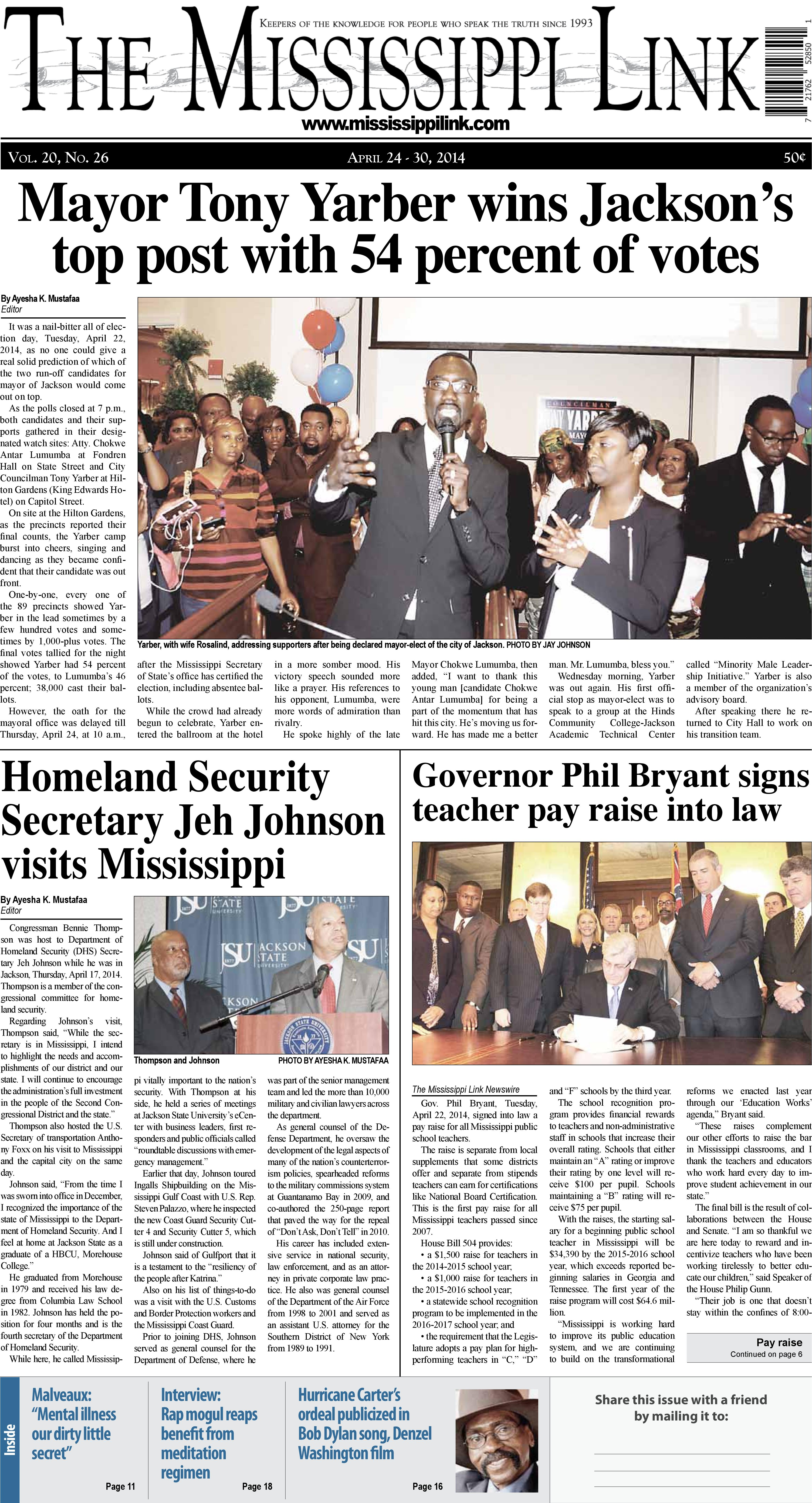 View e-Editions for the Mississippi Link