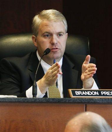 Mississippi Northern District Public Service Commissioner Brandon Presley (AP Photo/Rogelio V. Solis)