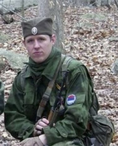 This undated file photo provided by the Pennsylvania State Police shows Eric Frein, who has eluded police, but is charged with killing one Pennsylvania State Trooper and seriously wounding another in a late night ambush. Authorities said Thursday, Oct. 30, 2014, that they have captured Frein. (AP Photo/Pennsylvania State Police)