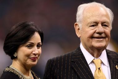 New Orleans Saints and Pelicans owner Tom Benson and his wife, Gayle. AP photo