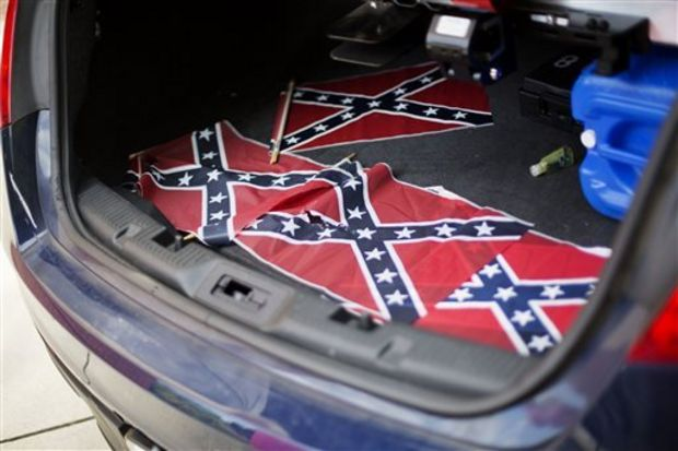 Confederate flags placed at Ebenezer church in Atlanta near MLK Center