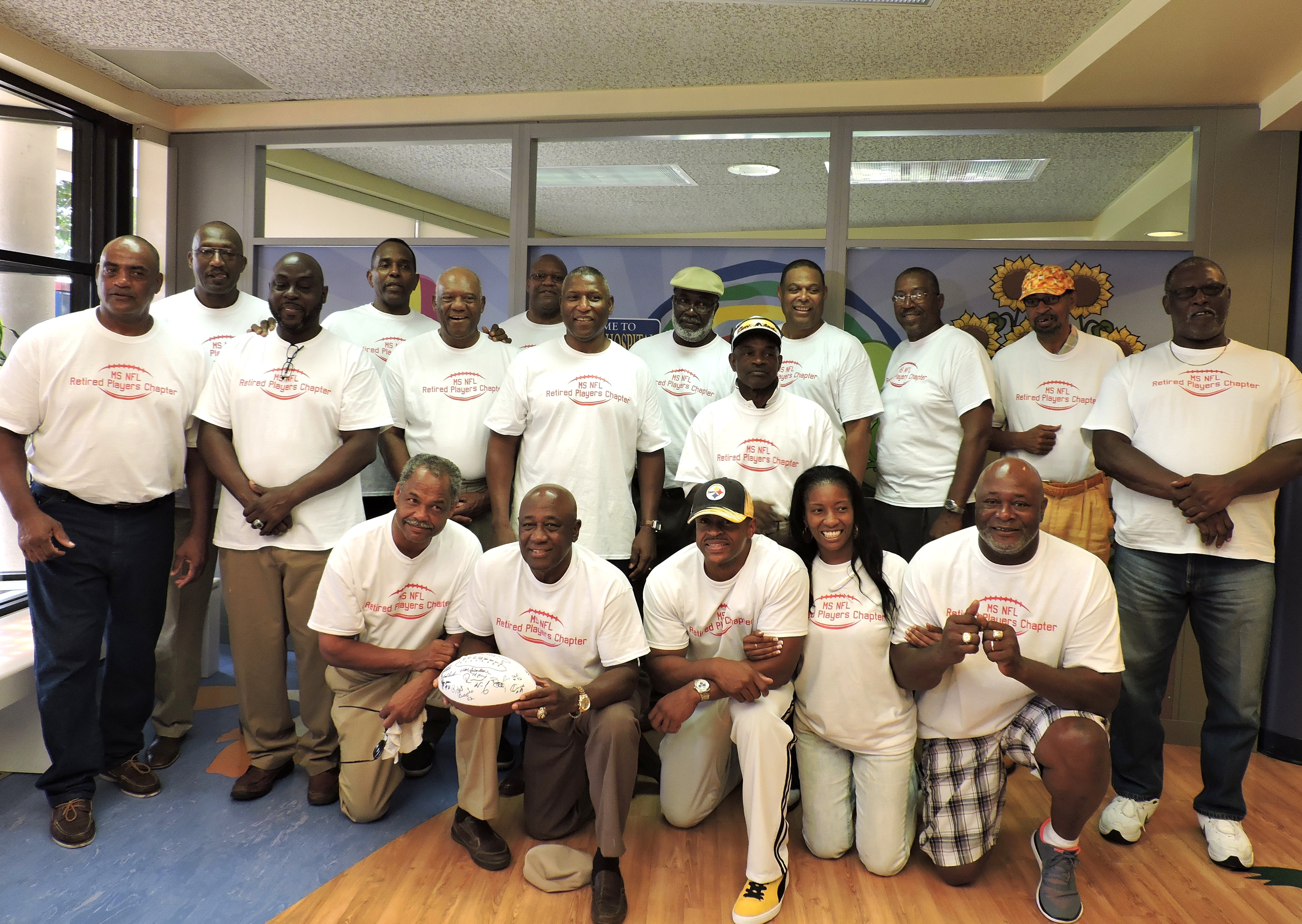 Members of the MS NFL Retired Players Chapter at Batson Children's Hospital, July 22, 2015 PHOTOS BY STEPHANIE R. JONES