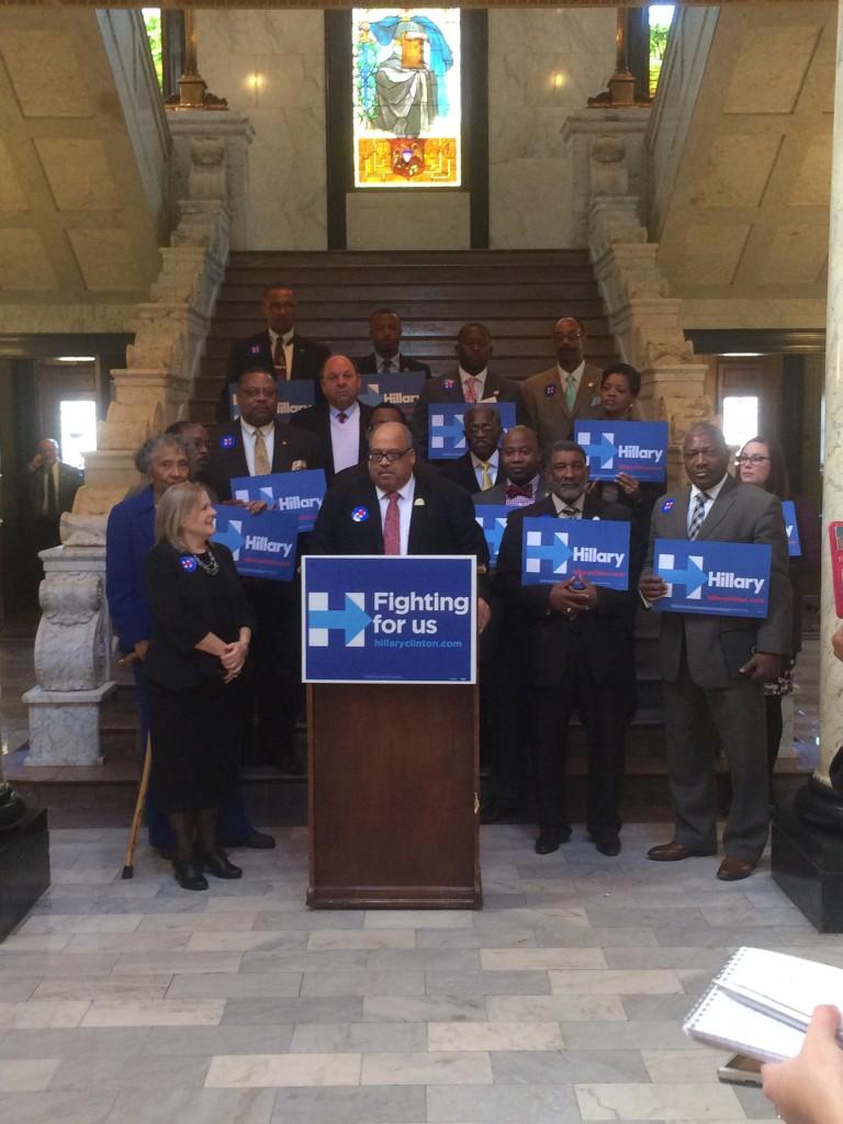 Legislators endorse Clinton