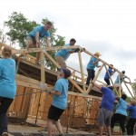 Blue Cross & Blue Shield of Mississippi's Team Blue employees are providing all the volunteer labor to build a home on Smith Robinson Street in Jackson.