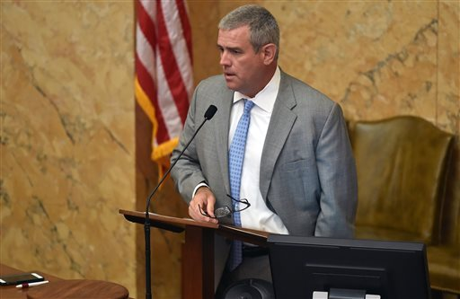 House Speaker Phillip Gunn opens a special session at the Capitol, Tuesday, June 28, 2016 in Jackson, Miss. Mississippi Gov. Phil Bryant could get permission to take as much as he needs from financial reserves to cover a multimillion-dollar deficit as the budget year ends. (Justin Sellers/The Clarion Ledger)