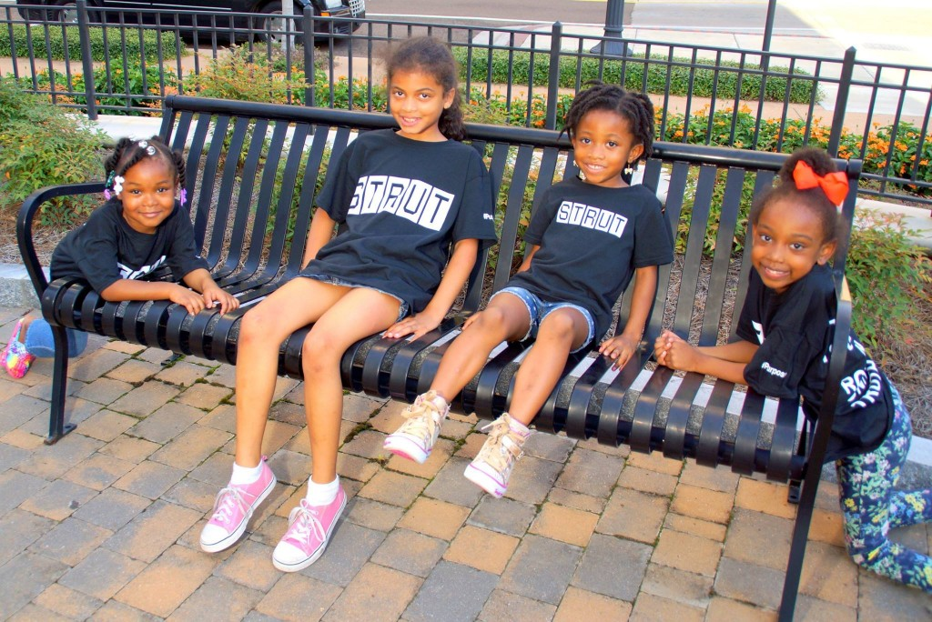 Young STRUT models have worked hard in preparing for this weekend's show. Pictured are Aviah Mims (from left), Zia Welchlin, Makaila Nixon and Layla D'asia Roberts.